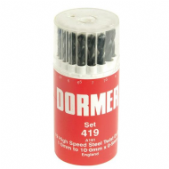 Dormer A191 No.419 HSS Drill Set in Plastic Case - Metric